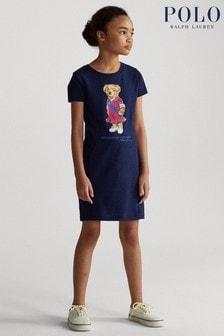 Ralph Lauren Navy Bear Dress