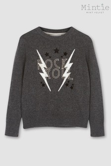 Mint Velvet Grey Charcoal Rock And Roll Jumper