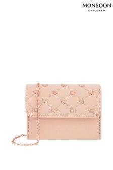 Monsoon Pink Flutter Quilted Studded Bag