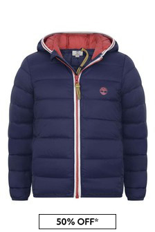 Boys Navy Blue Padded Jacket