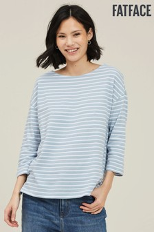 FatFace Blue Lucille Stripe Top