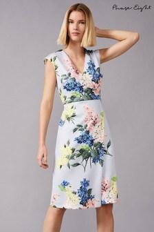 Phase Eight Green Frannie Floral Scuba Dress