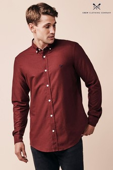Crew Clothing Company Red Oxford Slim Shirt