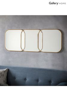 Kennford Lined Gold Mirror by Gallery Direct