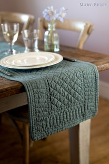 Mary Berry Green Quilted Table Runner