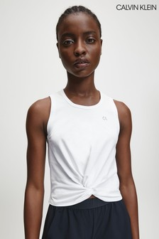 Calvin Klein White Knotted Tank Top