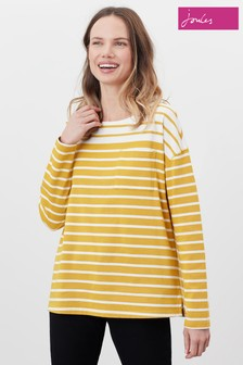 Joules Cream Marina Dropped Shoulder Jersey Top
