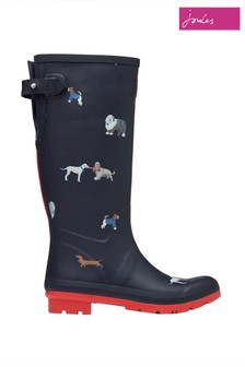 Joules Blue Print Wellies