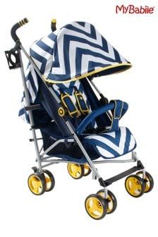 My Babiie Blue Chevron Stroller