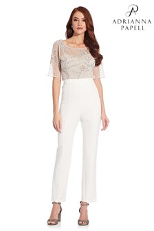 Adrianna Papell Crepe Slim Trousers