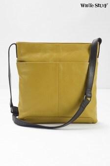 White Stuff Yellow Issy Leather Cross Body Bag