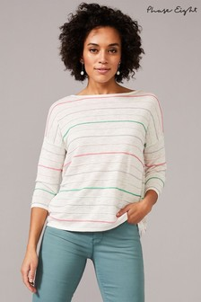 Phase Eight Multi Miley Ripple Stitch Linen Knit