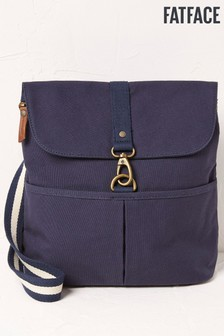 FatFace Blue Canvas Clip Backpack