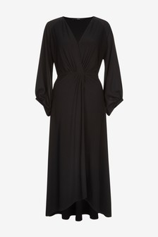 Twist Front Midi Dress