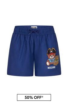 Moschino Kids Boys Navy Swim Shorts