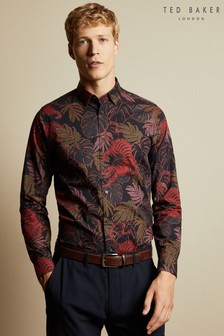 Ted Baker Blue Chat Bold Tiger Print Shirt