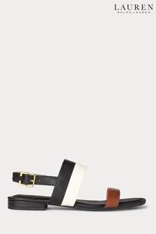 Lauren Ralph Lauren® Black Colourblock Classic Kristi Flat Sandals