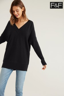 F&F Black Izzy Batwing Co-ord Jumper