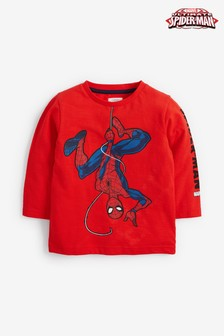 Long Sleeve Jersey Spider-Man™ T-Shirt (3mths-8yrs)