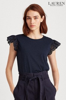 Lauren Ralph Lauren® Broderie Sleeve Sharika Top