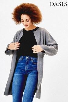Sivý svetrový kabát Oasis Jessica