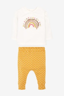 Rainbow T-Shirt And Joggers 2 Piece Set (0mths-2yrs)
