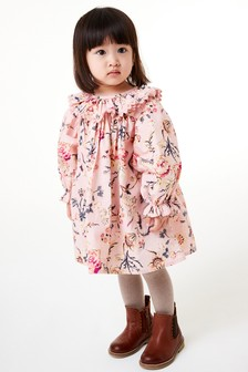 Frill Collar Dress With Tights (3mths-7yrs)