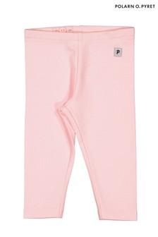 Polarn O. Pyret Pink GOTS Organic Leggings