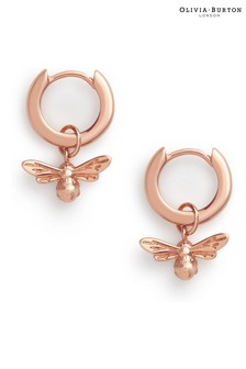 Olivia Burton Lucky Bee Huggie Hoop Earrings
