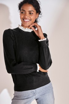 Scalloped Lace Layer Jumper