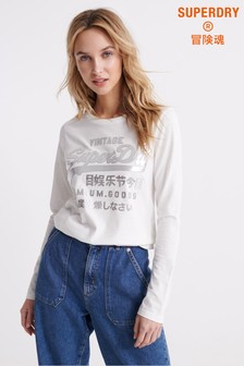 Superdry Premium Goods Metallic Long Sleeved Top