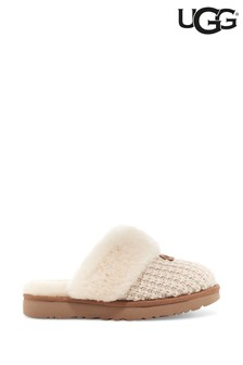 UGG Cream Cozy Knit Slippers