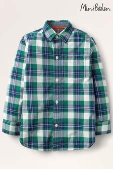 Mini Boden Green Casual Twill Shirt