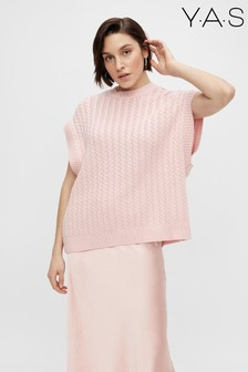 Y.A.S Pink Vanilla Knitted Vest