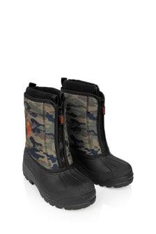 Ralph Lauren Kids Boys Camo Snow Boots