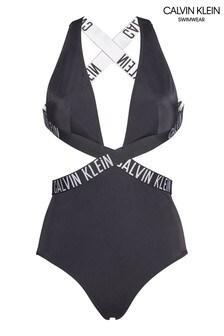 בגד ים מוצלב של Calvin Klein דגם Intense Power בשחור