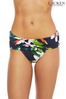 Lauren Ralph Lauren® Watercolour Tropical Wide Shirred Banded Hipster Briefs