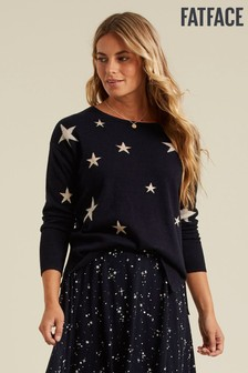 FatFace Blue Star Jumper