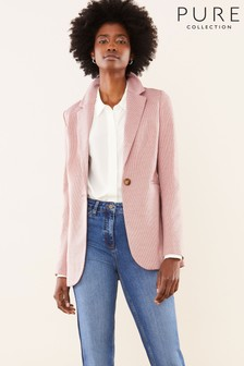 Pure Collection Pink Ponte Longline Blazer