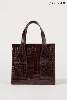 Jigsaw Brown Oran Leather Grab Bag