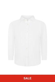 Bonpoint Boys White Cotton Shirt