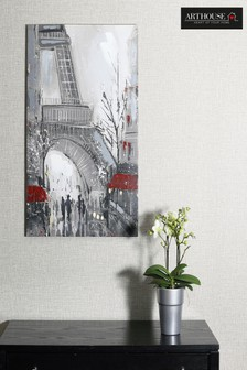 Close Up Eiffel Tower Canvas by Arthouse