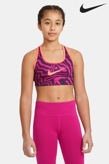 Nike Performance Pink Printed Reversible Bra