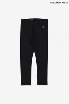 Polarn O. Pyret Black GOTS Organic Leggings