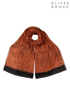 Oliver Bonas Cute Cheetah Brown Lightweight Scarf