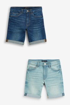 2 Pack Denim Shorts (3-16yrs)
