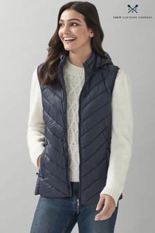 Crew Clothing Company Blue Lightweight Chevron Gilet