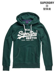 Superdry Green Embroidery Hoody