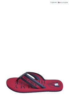 Tommy Hilfiger Red Hilfiger Maritime Sandals