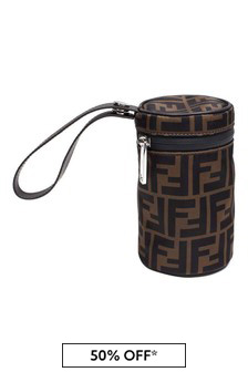 Fendi Kids Baby Brown FF Logo Bottle Holder